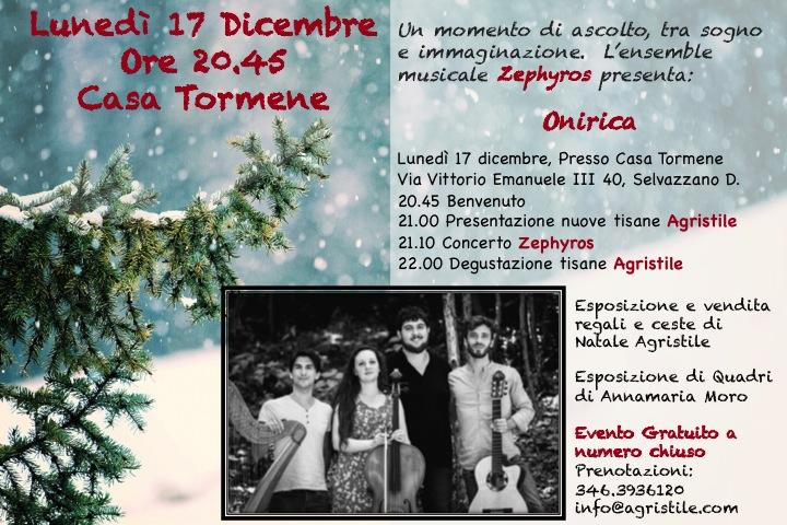 17 Dicembre Onirica a Casa Tormene