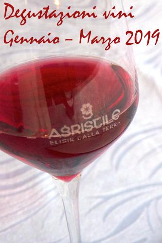 Programma degustazioni vino Gennaio – Marzo 2019