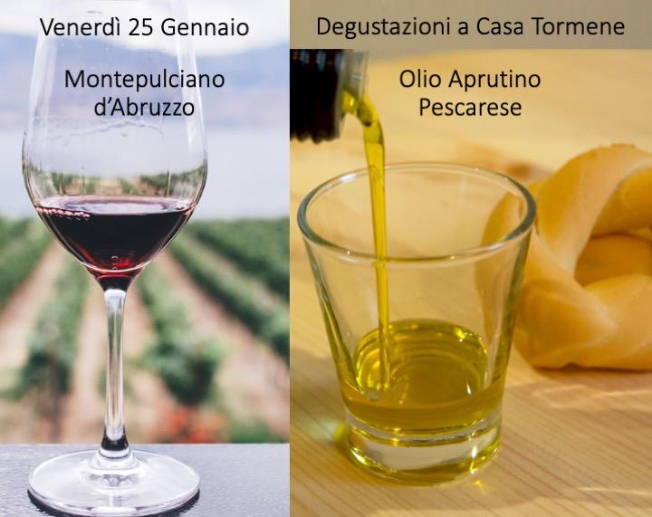 25 gennaio Vino e olio d'Abruzzo