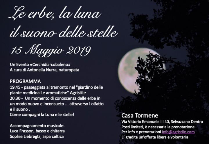 15 Maggio Locandina le erbe, la luna, il suono delle stelle