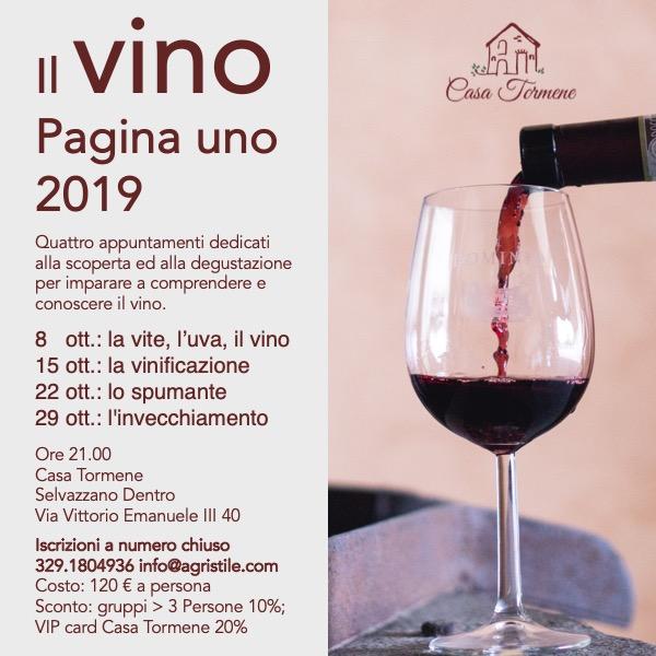 Corso di Degustazione vino a Padova modulo base il vino pagina uno