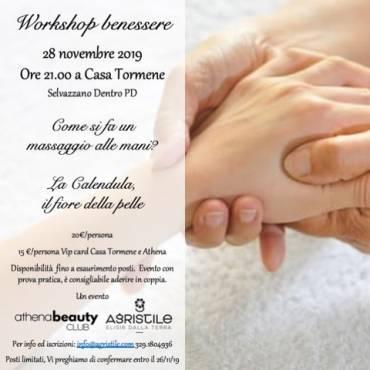 28 Novembre 2019 – Workshop Benessere: Massaggio mani e Crema alla Calendula