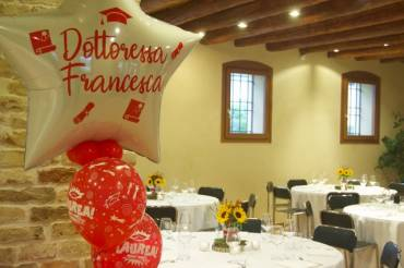 Addobbi festa laurea a Padova