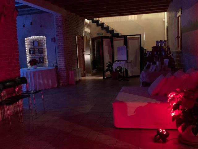 foto luci sera disco Casa Tormene